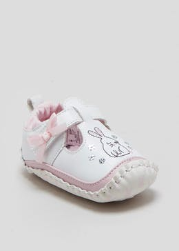 Girls Soft Sole Bunny Moccasin Baby Shoes (Newborn-18mths)