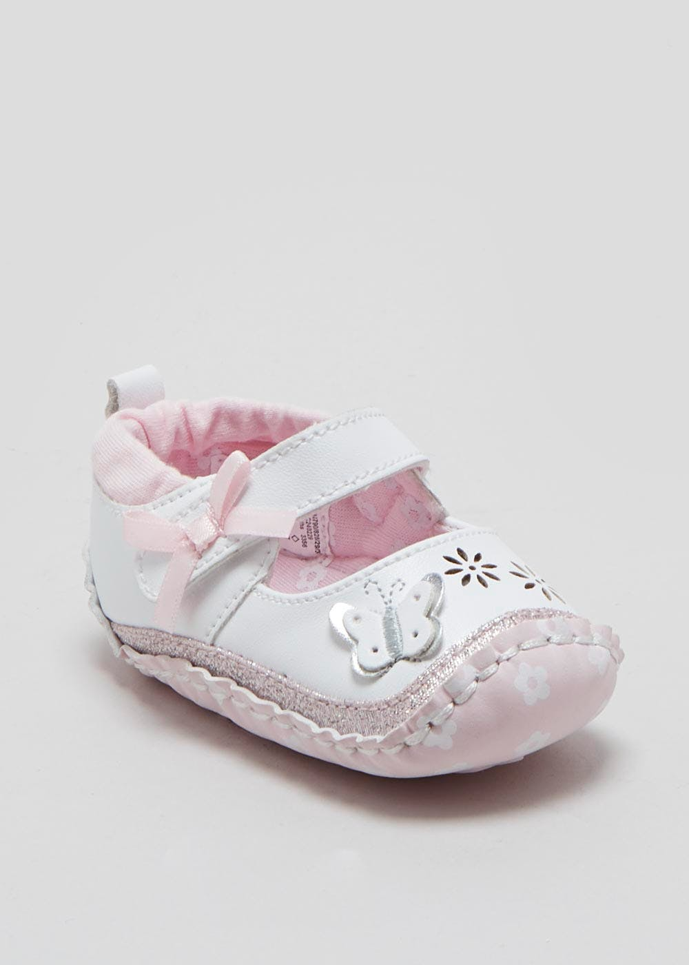 Girls Soft Sole Butterfly Moccasin Baby