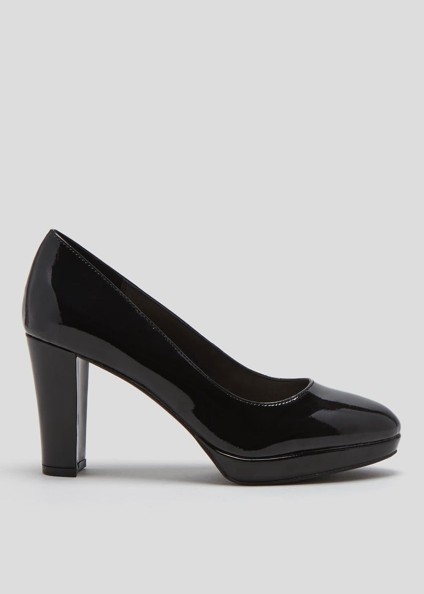 Wide Fit Platform Court Shoes