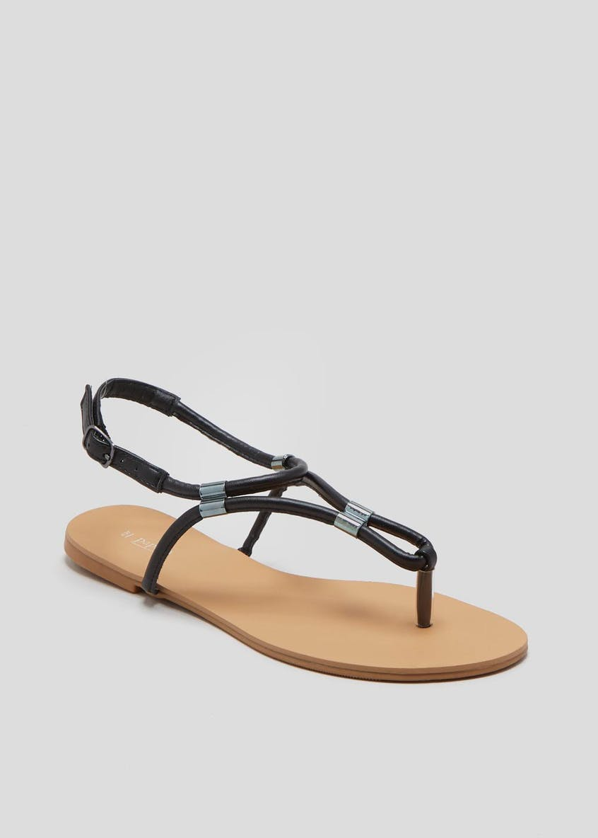 Tube Toe Post Sandals