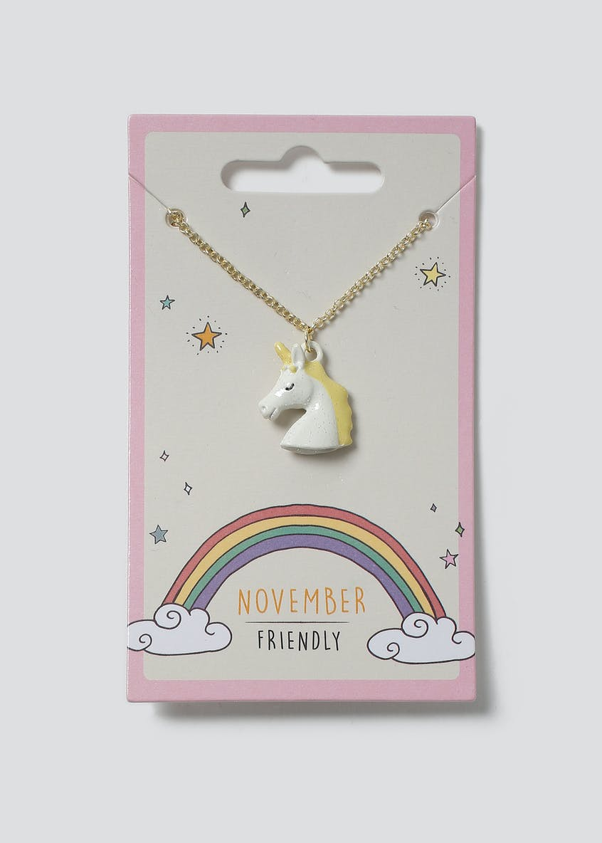 Unicorn Birthstone Necklace November