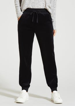 Velour Tapered Jogging Bottoms 73516b6c26d3