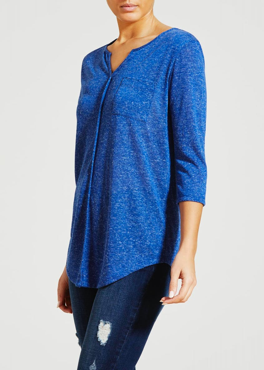 Textured Henley Top