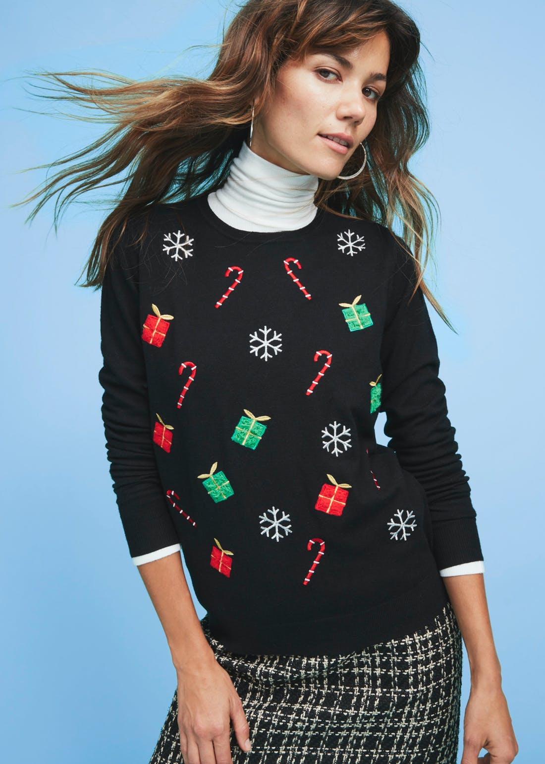 Embroidered Novelty Christmas Jumper