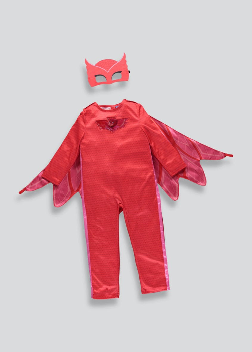 Kids PJ Masks Owlette Fancy Dress Costume (3-7yrs)