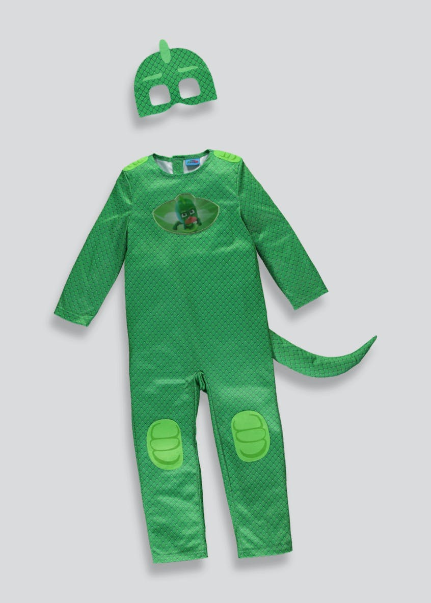 Kids PJ Masks Gekko Dress Up Costume (3-7yrs)