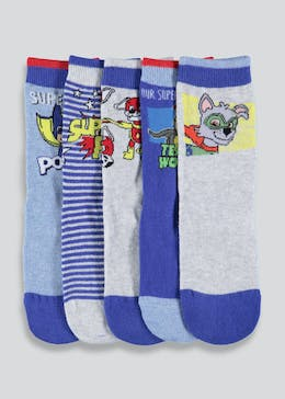 Kids 5 Pack Paw Patrol Socks (Younger Kids 3-12)