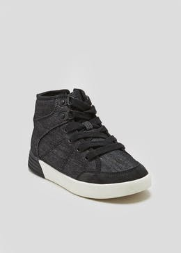 Boys Denim Hi Tops (Younger 10-Older 6)