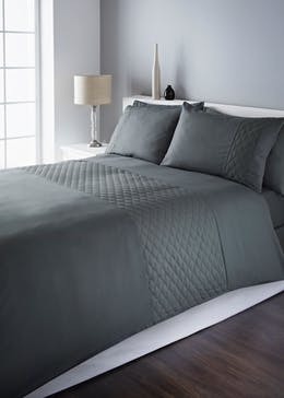 Quilted Diamond Panel Duvet Cover