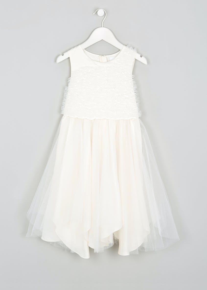 Girls Cream Sleeveless Flower Girl Dress (3-13yrs)