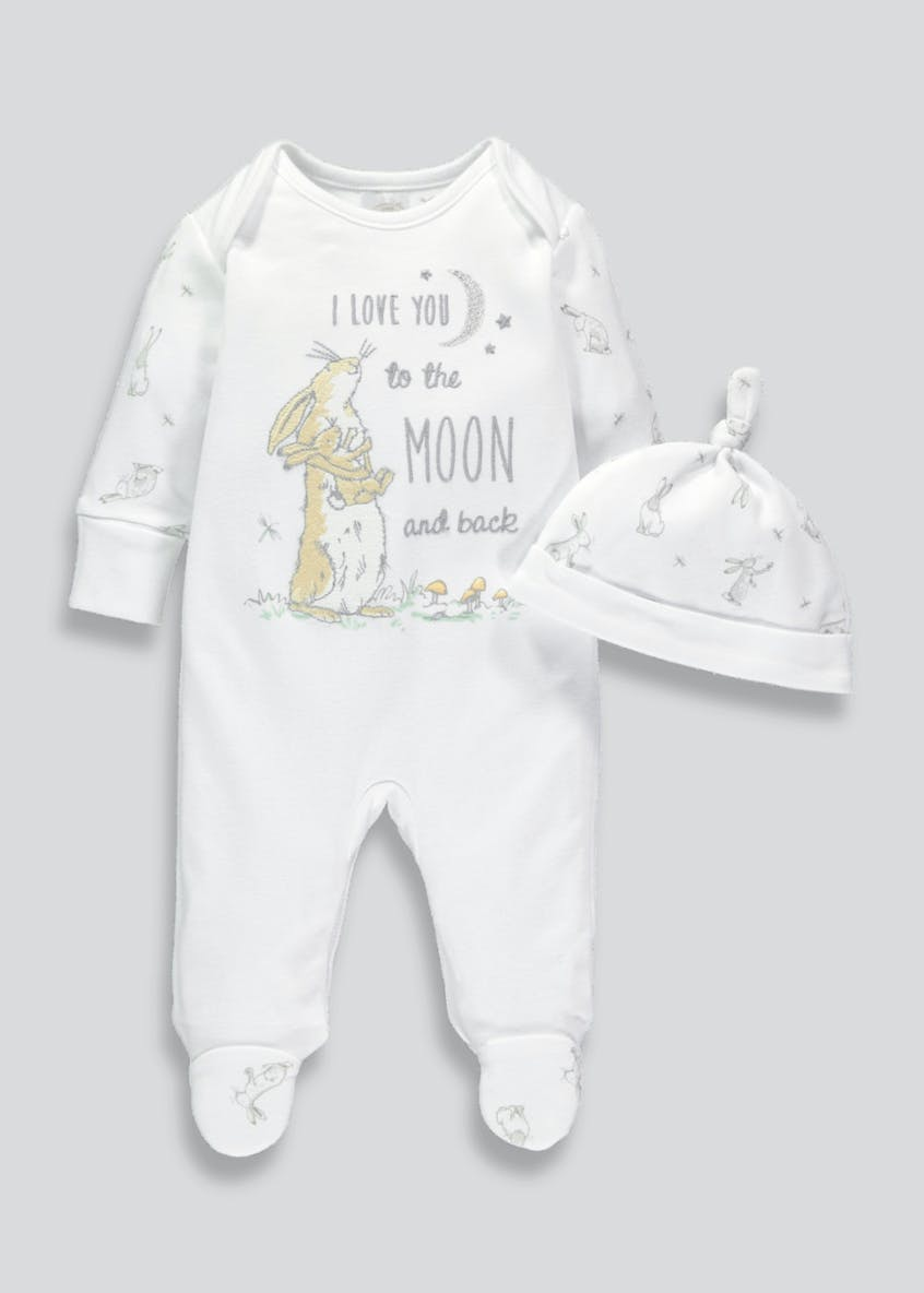 Unisex Guess How Much I Love You Sleepsuit & Hat Set (Tiny Baby-6mths)