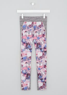 Girls Souluxe Tile Print Sports Leggings (4-13yrs)