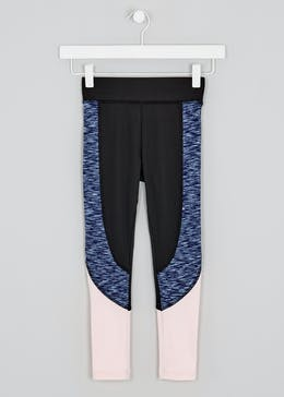 Girls Souluxe Panel Sports Leggings (4-13yrs)