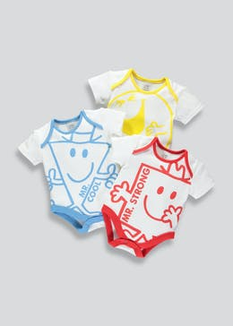 Unisex 3 Pack Mr. Men Bodysuits (Newborn-12mths)