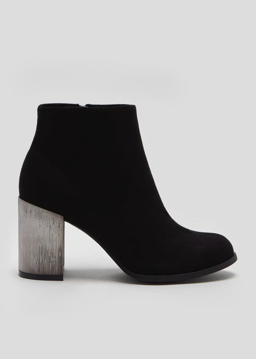 Statement Block Heel Ankle Boots
