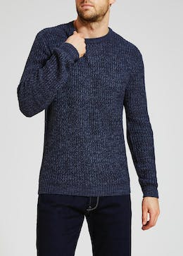 Chunky Knitted Crew Neck Jumper