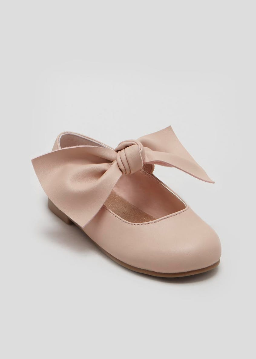 Girls Knotted Bow Ballet Shoes (Younger 4-9)