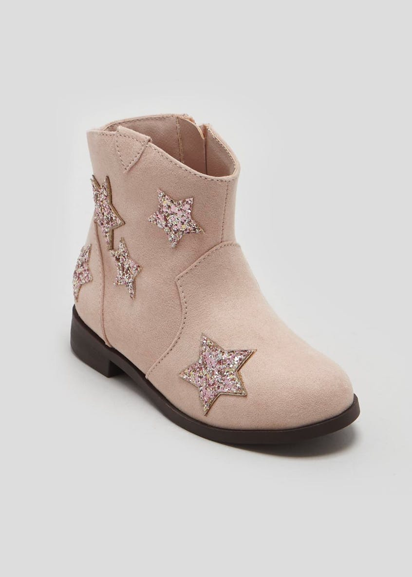 Girls Star Western Ankle Boots (Younger 4-12)