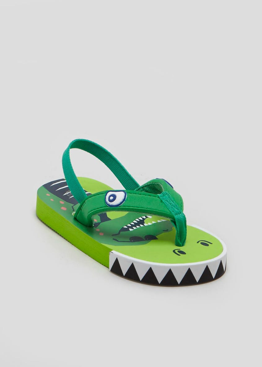 Kids Crocodile Flip Flops (Younger 4-12)
