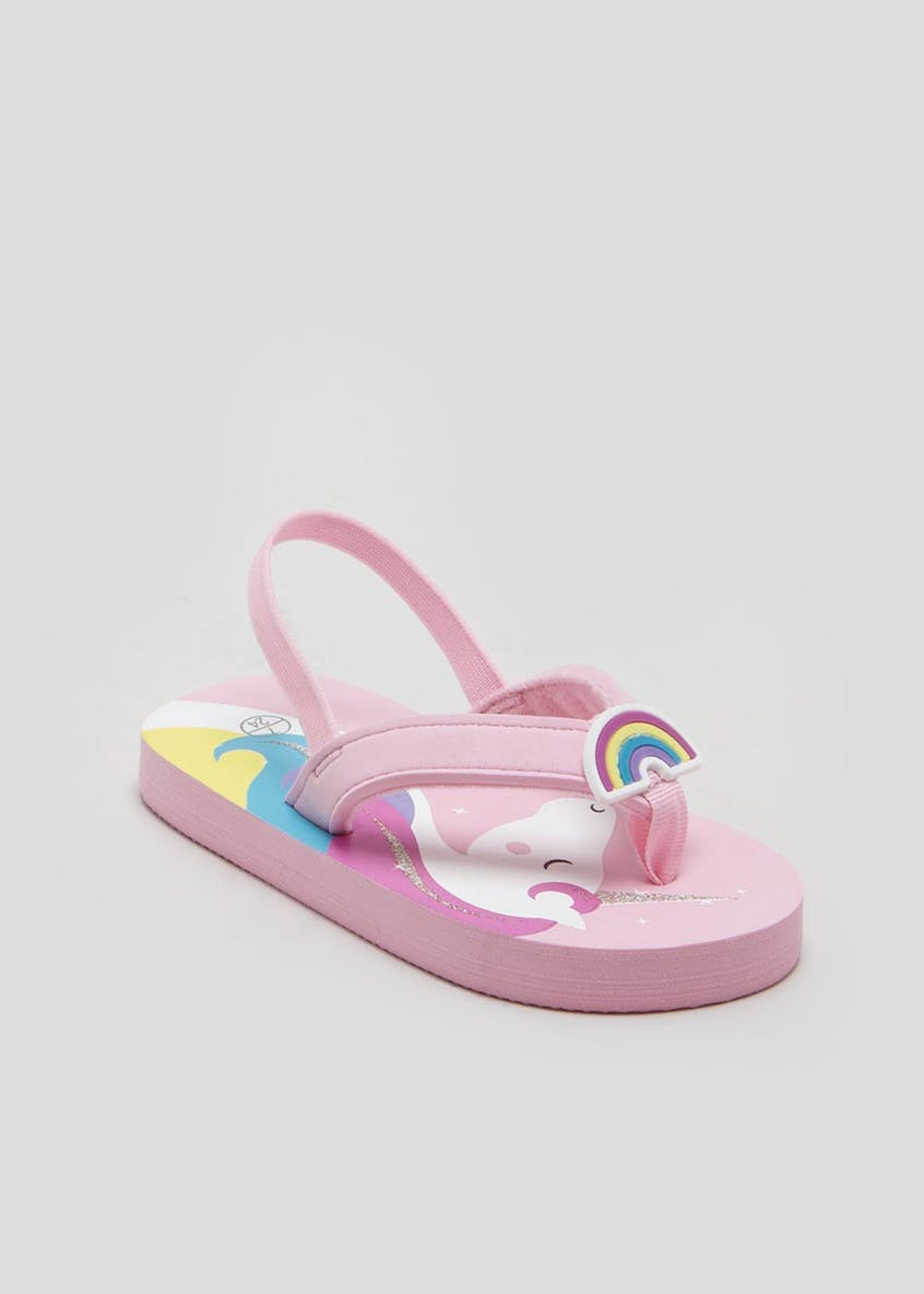 Girls Unicorn Flip Flops (Younger 4-12)