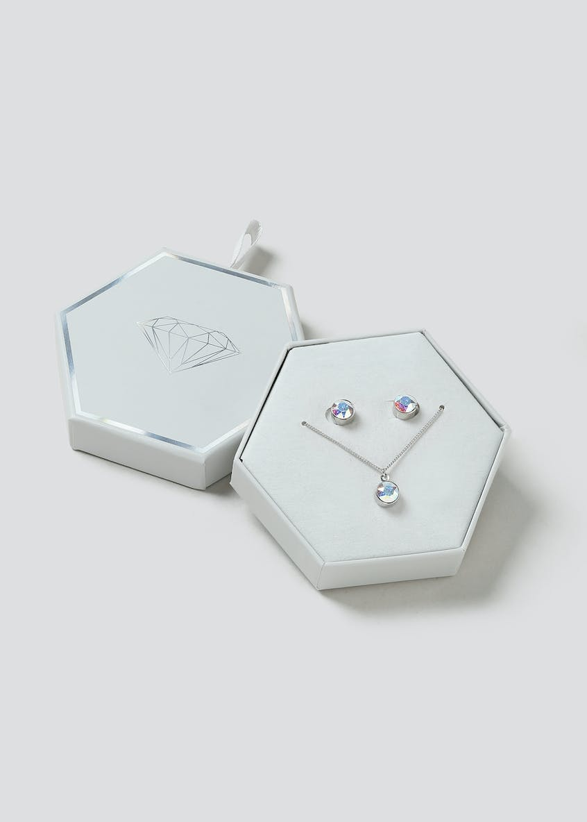 Swarovski Elements Necklace & Earrings Gift Box
