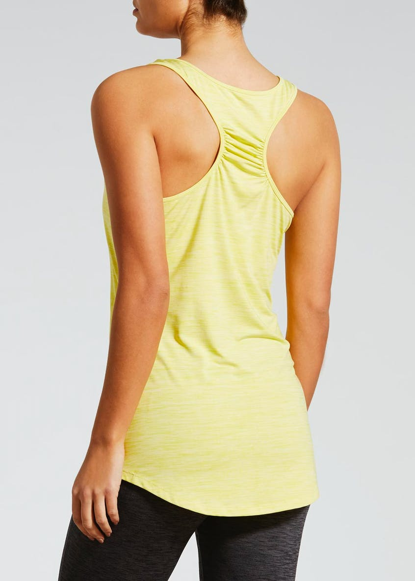 Souluxe Space Dye Racer Back Gym Vest
