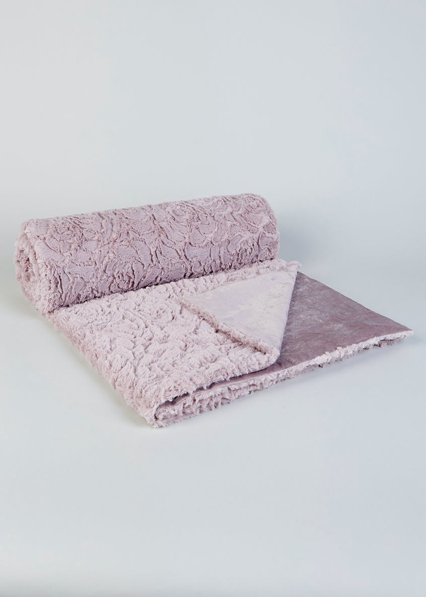 Rose Embossed Throw (200cm x 150cm)