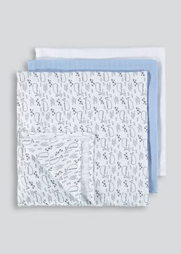Unisex Whale Muslin Squares