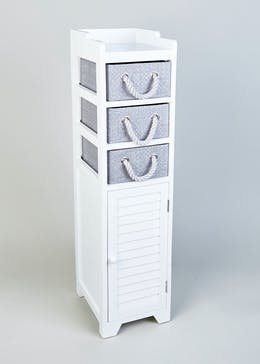 Wooden Storage Tower (103cm x 29cm x 14cm)