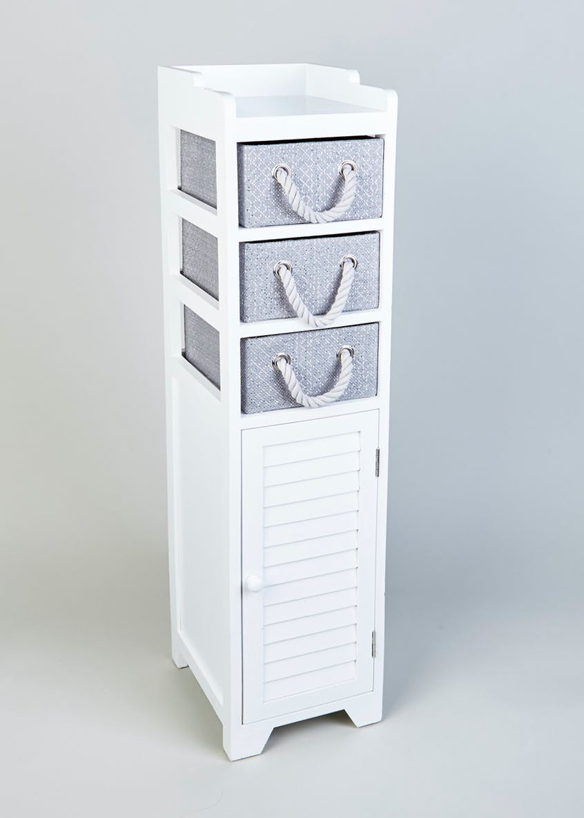 Wooden Storage Tower (103cm x 29cm x 24cm)