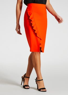 Frill Pencil Skirt