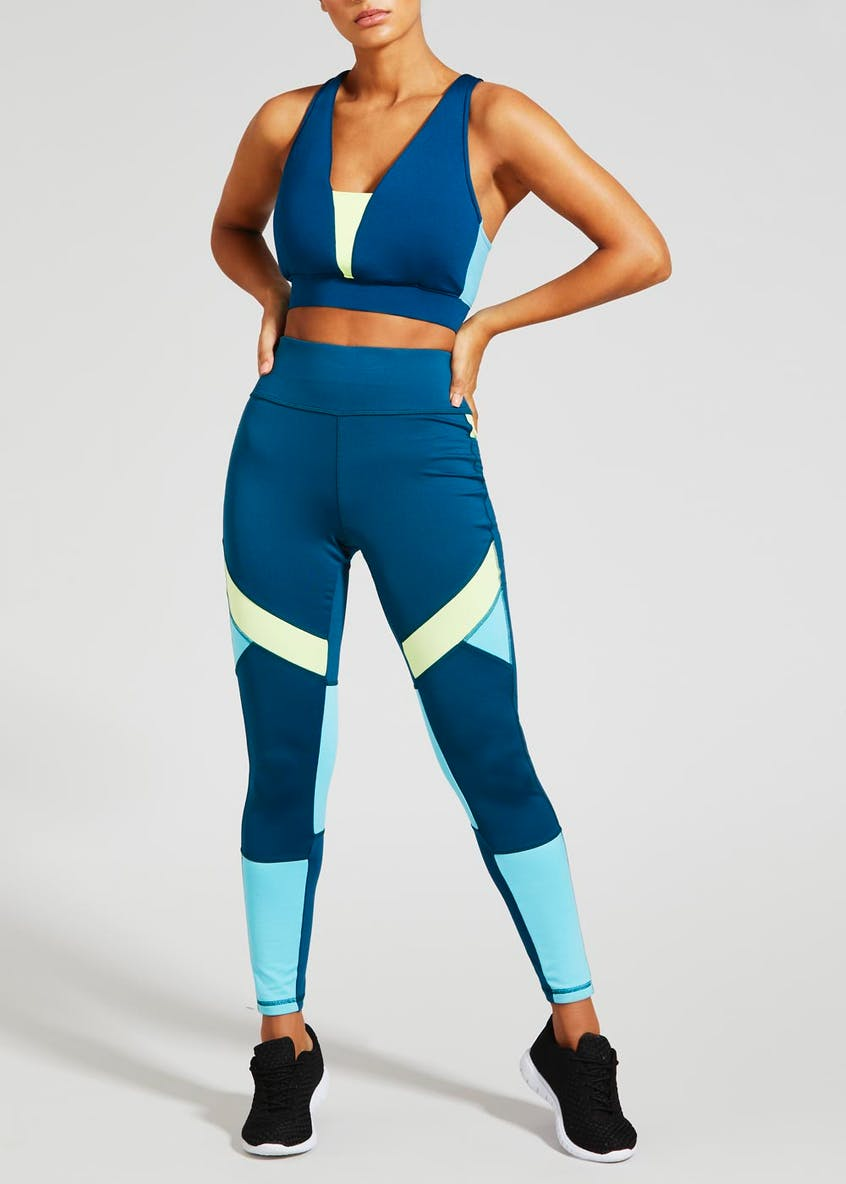 Souluxe Colourblock Gym Crop Top