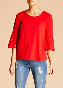 Falmer Lace Bell Sleeve Blouse