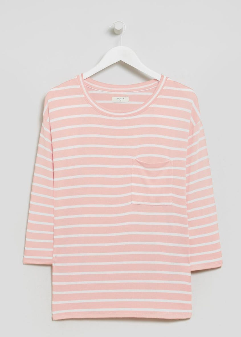 Stripe Drop Shoulder Snit Top