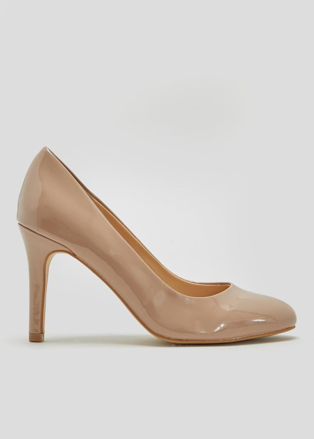 Nude Round Toe Court Shoes