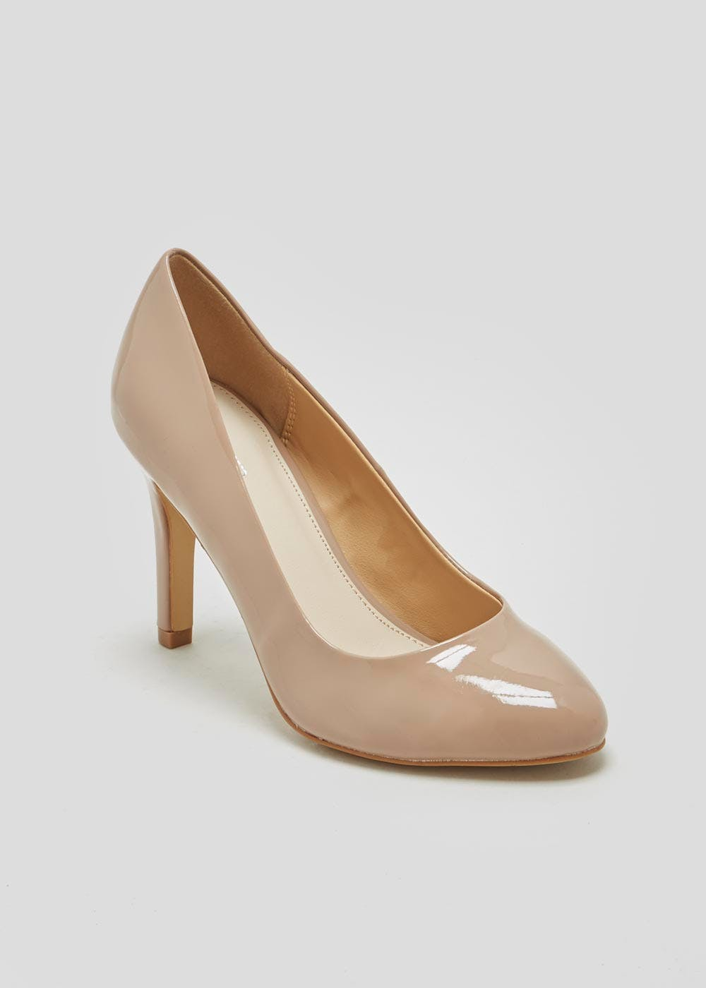 Nude Round Toe Court Shoes – Nude – Matalan