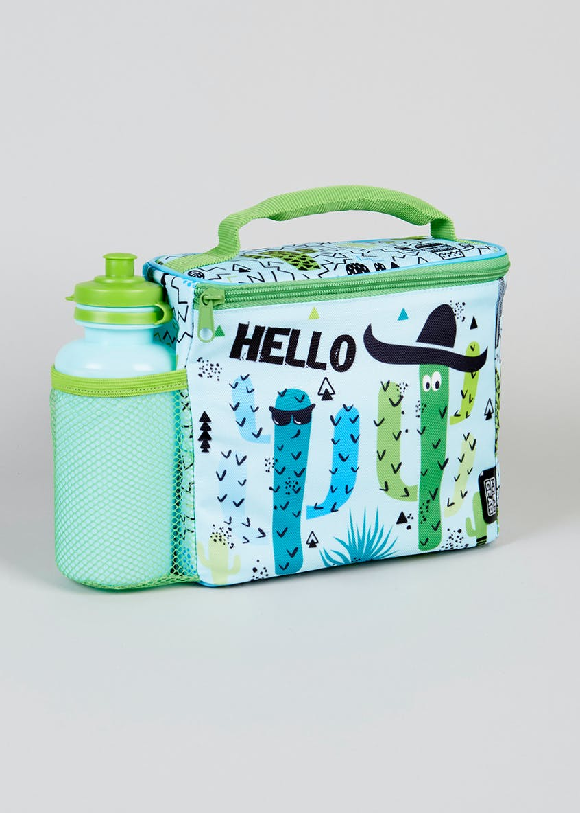 Kids Cactus Lunch Bag & Water Bottle (18cm x 10cm)