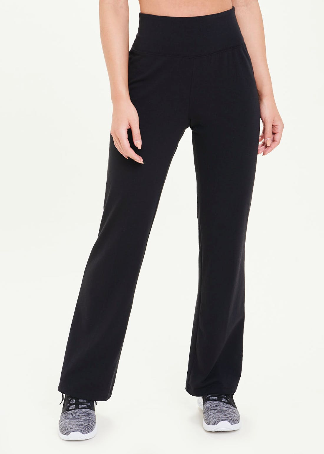 Souluxe Black Bootleg Gym Trousers