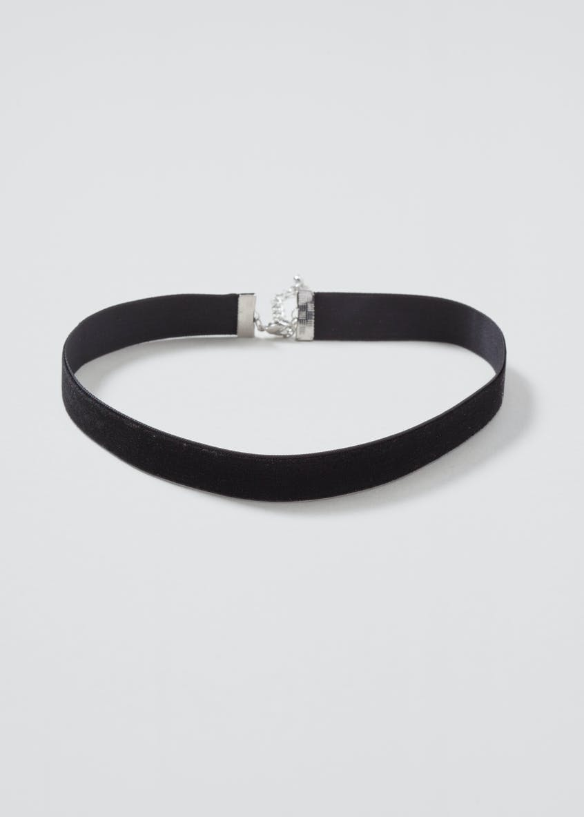 Plain Velvet Black Choker