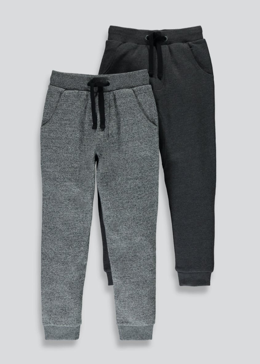 Boys 2 Pack Interest Jogging Bottoms (4-13yrs)