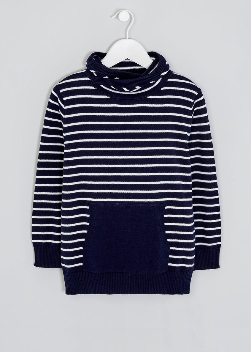 Boys Cowl Neck Stripe Jumper (4-13yrs)