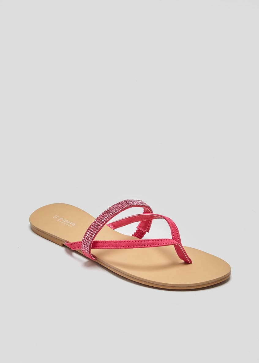 Diamante Toe Post Sandals