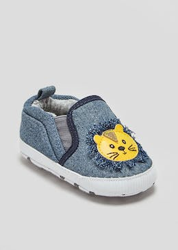 Boys Soft Sole Lion Baby Shoes (Newborn-18mths)