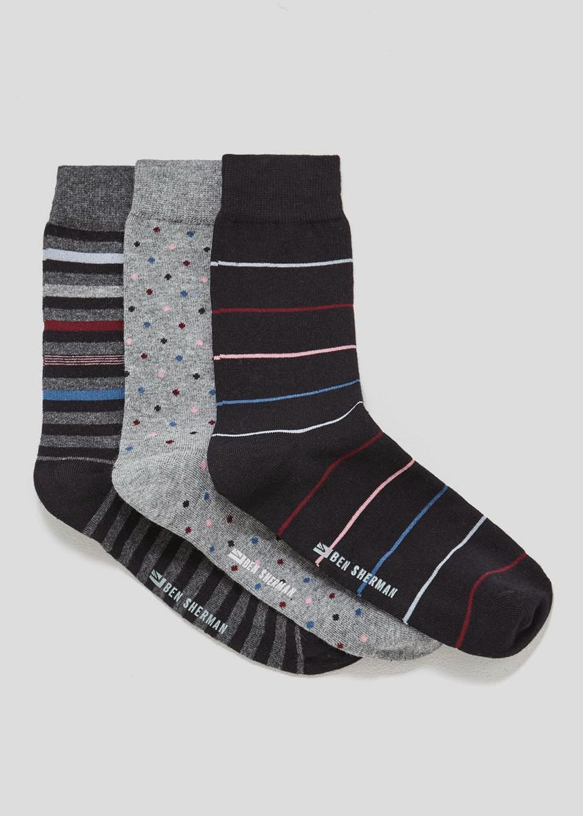 3 Pack Ben Sherman Socks Gift Box