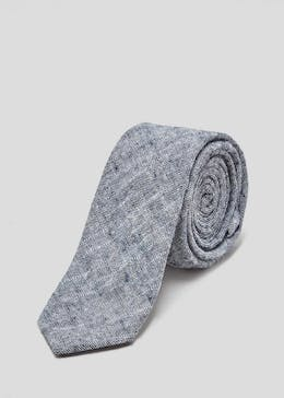 Skinny Textured Chambray Tie