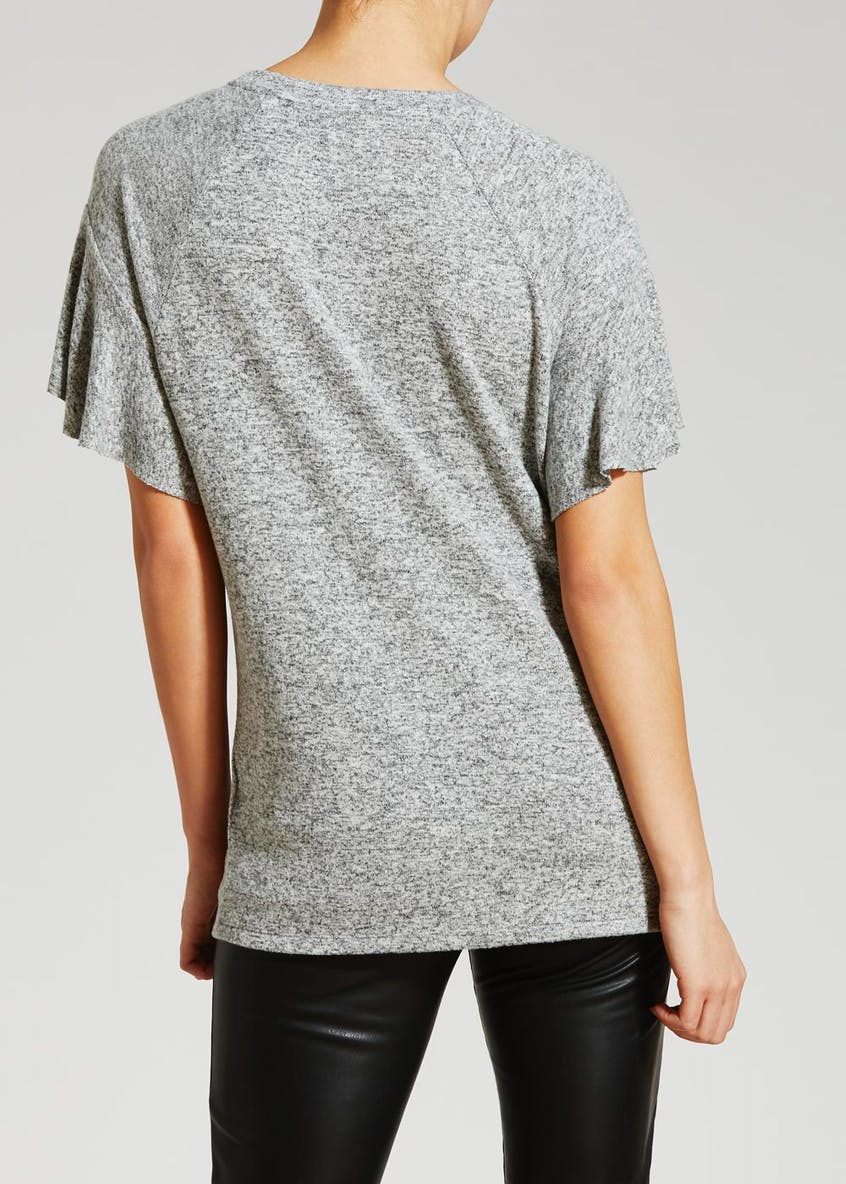 Soft Touch Frill Sleeve T-Shirt