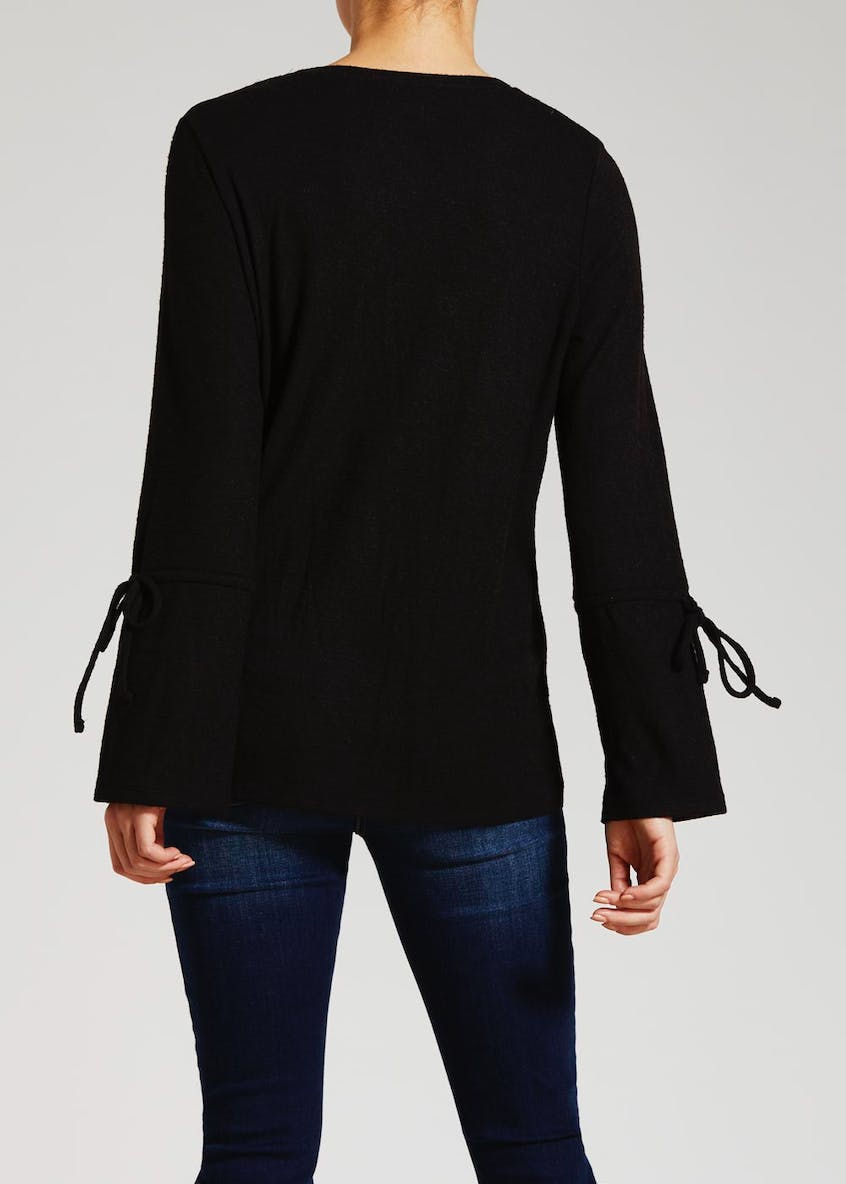 Soft Touch Tie Sleeve Top