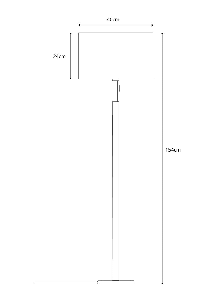Brooke Floor Lamp (H158cm x W40cm)