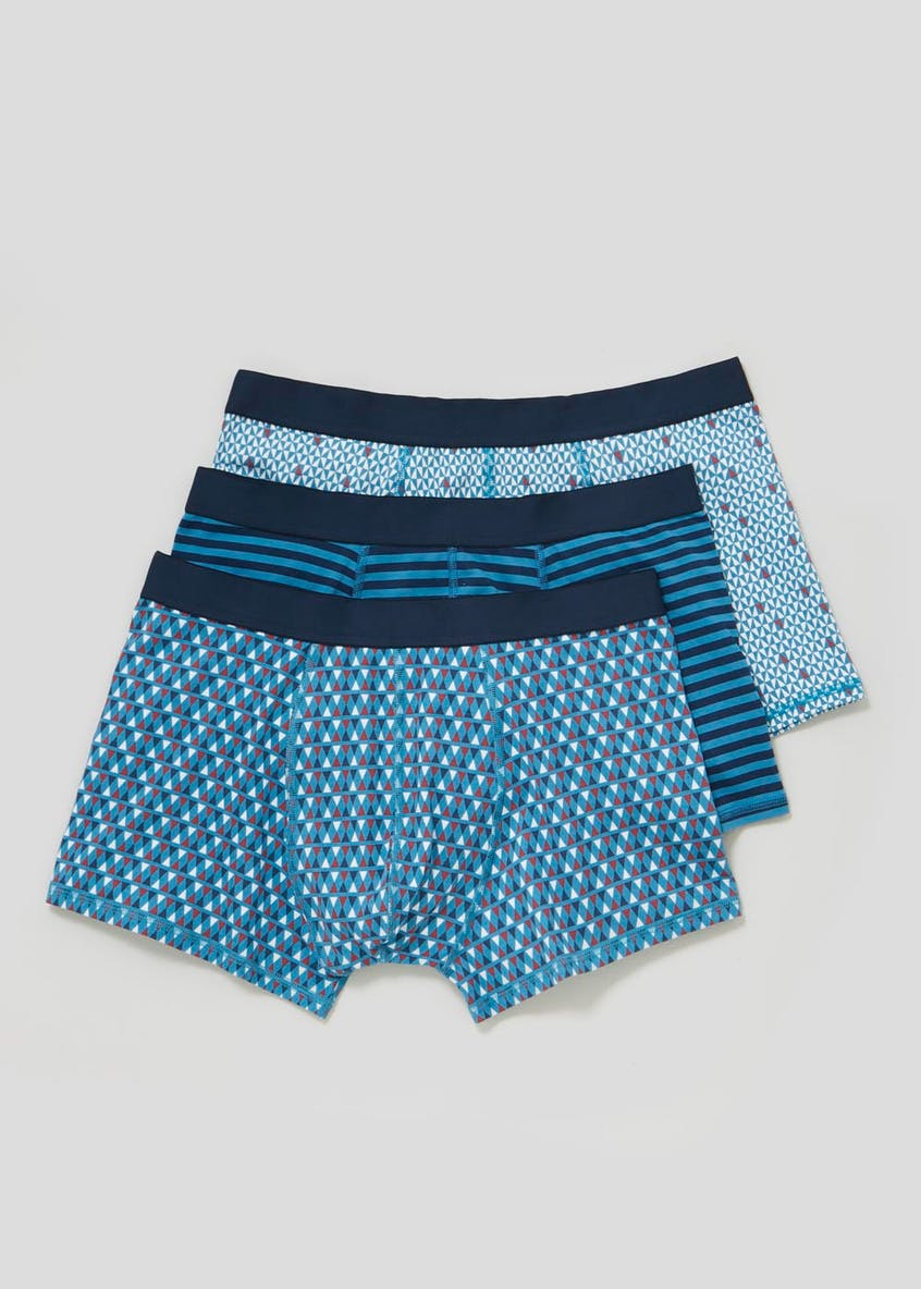 3 Pack Print Hipster Boxers