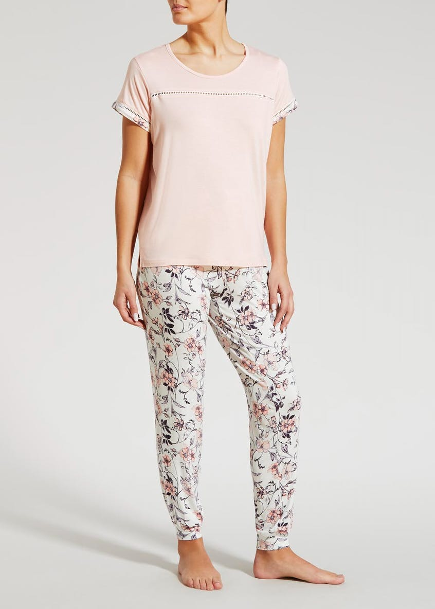 Floral Trim Viscose Pyjama Top